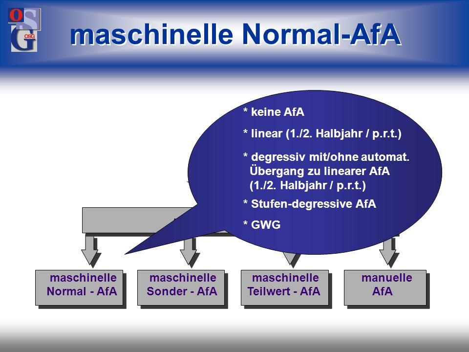 maschinelle Normal-AfA