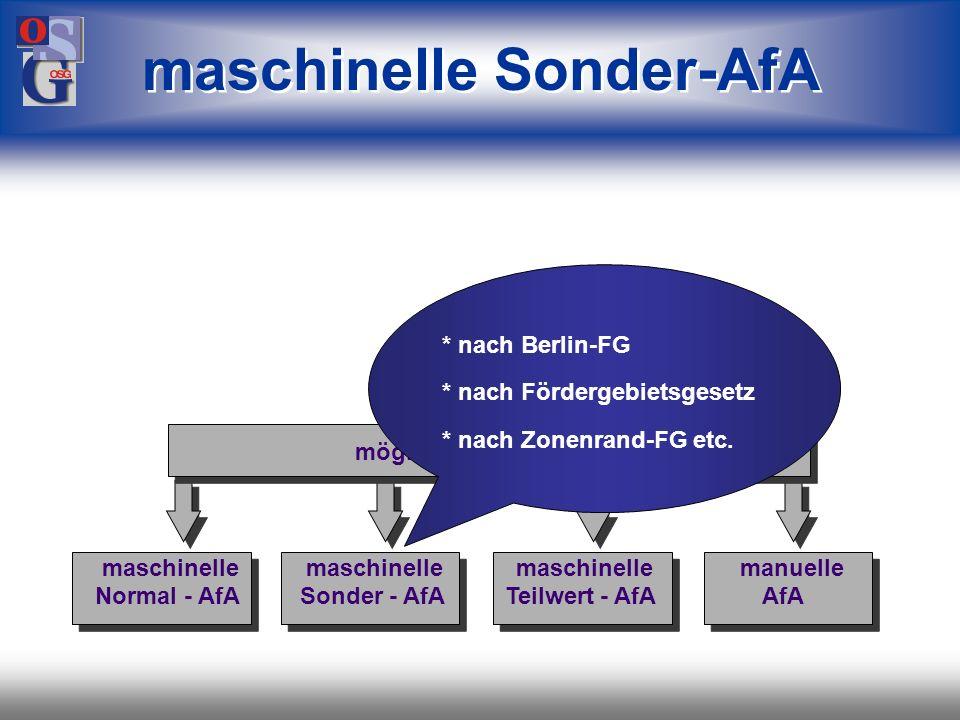 maschinelle Sonder-AfA