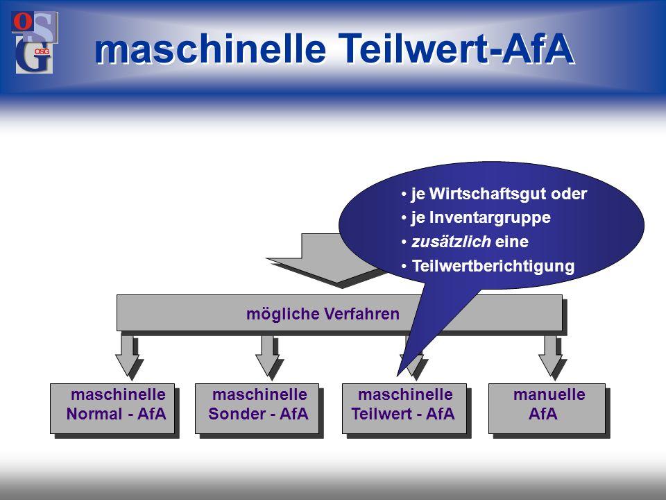 maschinelle Teilwert-AfA