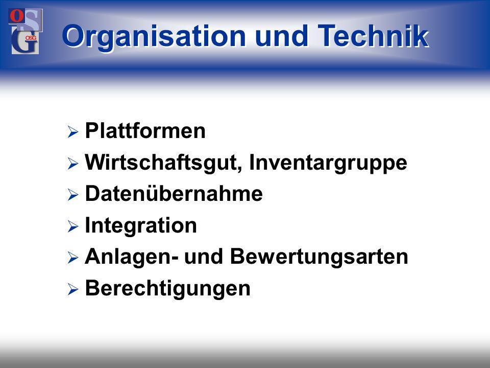 Organisation und Technik