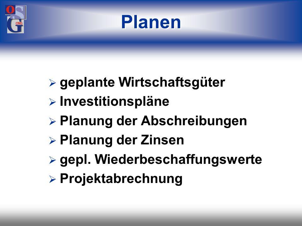 Planen geplante Wirtschaftsgüter Investitionspläne