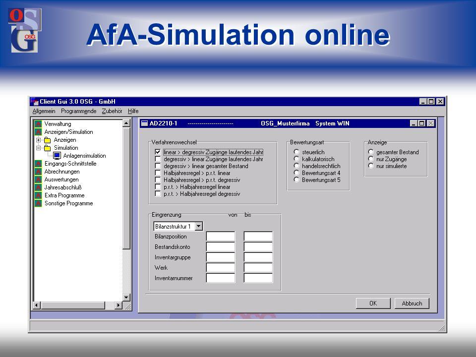 AfA-Simulation online
