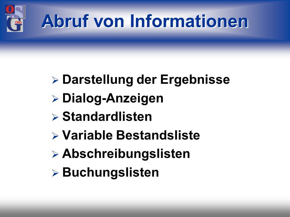 Abruf von Informationen