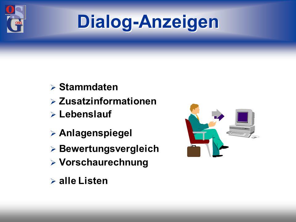 Dialog-Anzeigen Stammdaten Zusatzinformationen Lebenslauf