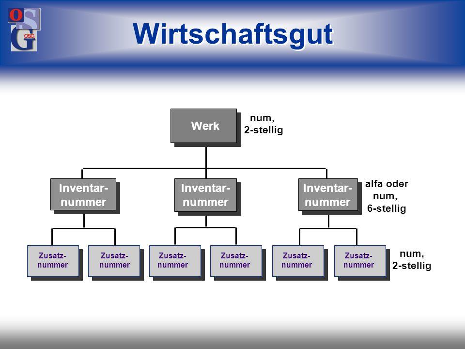 Wirtschaftsgut Werk Inventar-nummer Inventar-nummer Inventar-nummer