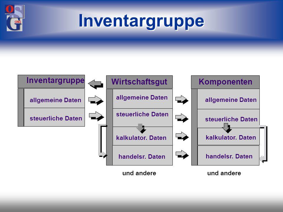Inventargruppe Inventargruppe Wirtschaftsgut Komponenten