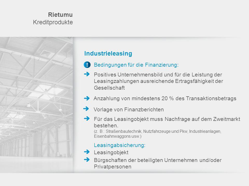 Rietumu Kreditprodukte Industrieleasing