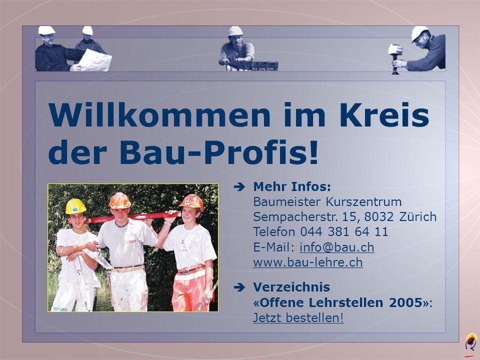 Willkommen im Kreis der Bau-Profis!