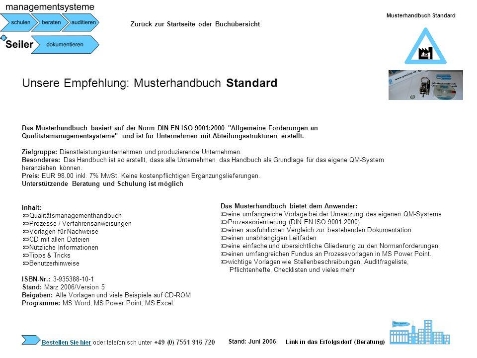 Musterhandbuch Standard