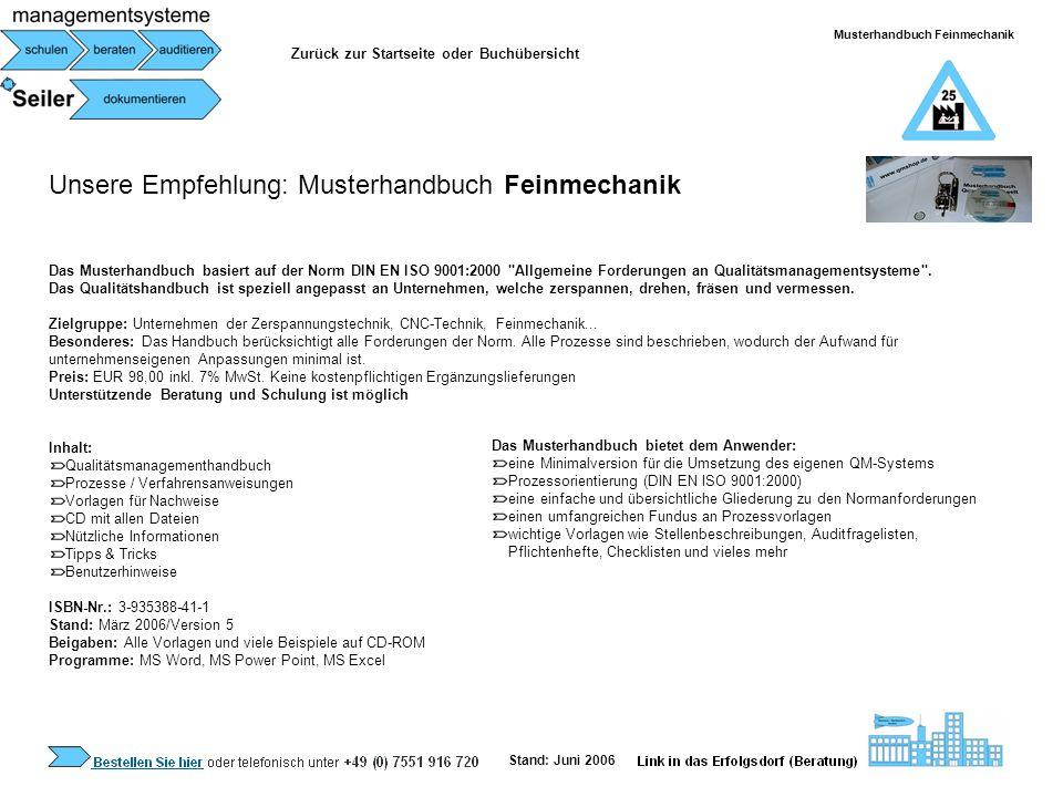 Musterhandbuch Feinmechanik