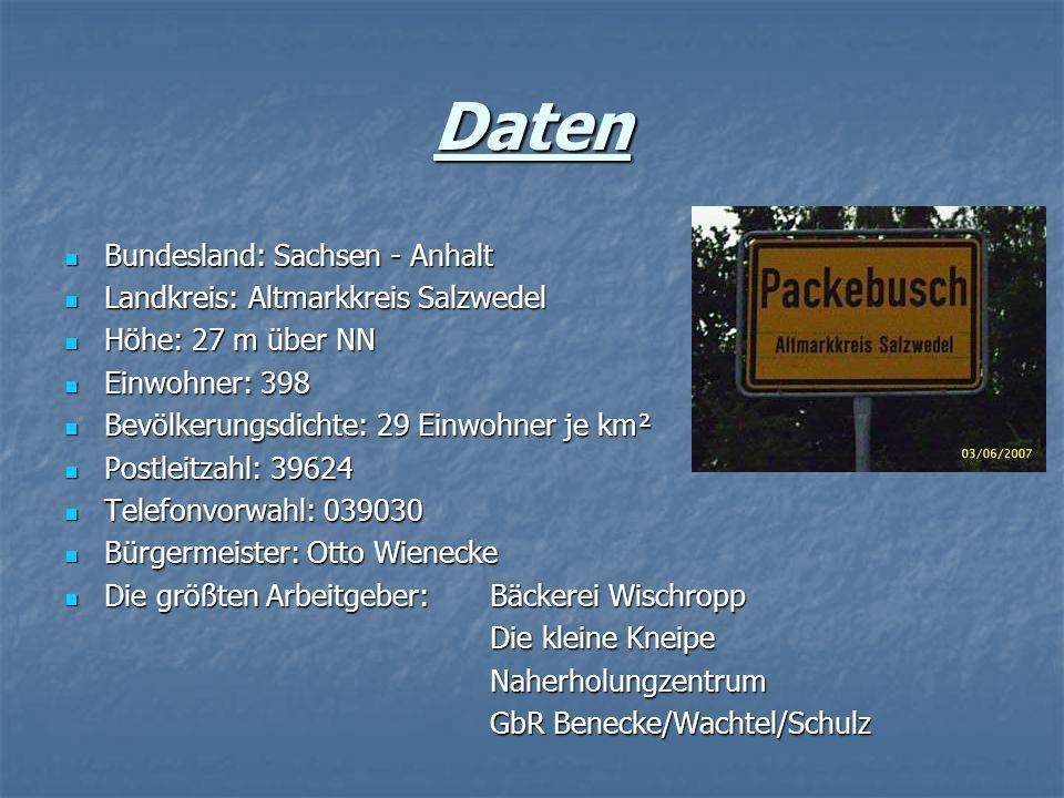 Daten Bundesland: Sachsen - Anhalt Landkreis: Altmarkkreis Salzwedel