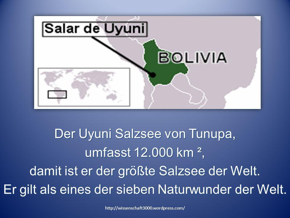 Der Uyuni Salzsee von Tunupa, umfasst 12