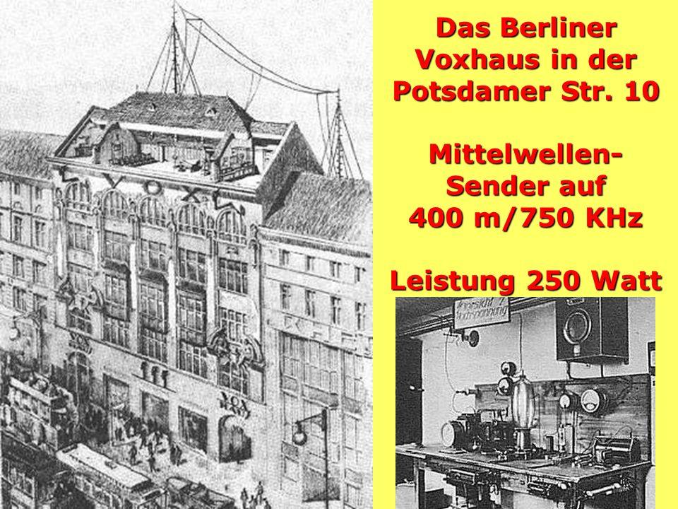 Das Berliner Voxhaus in der Potsdamer Str