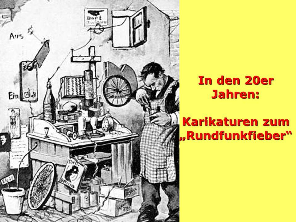 """In den 20er Jahren: Karikaturen zum """"Rundfunkfieber"""