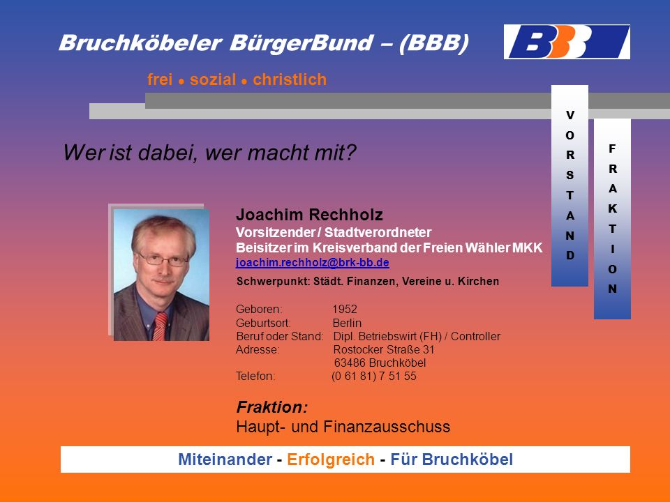 Bruchköbeler BürgerBund – (BBB)