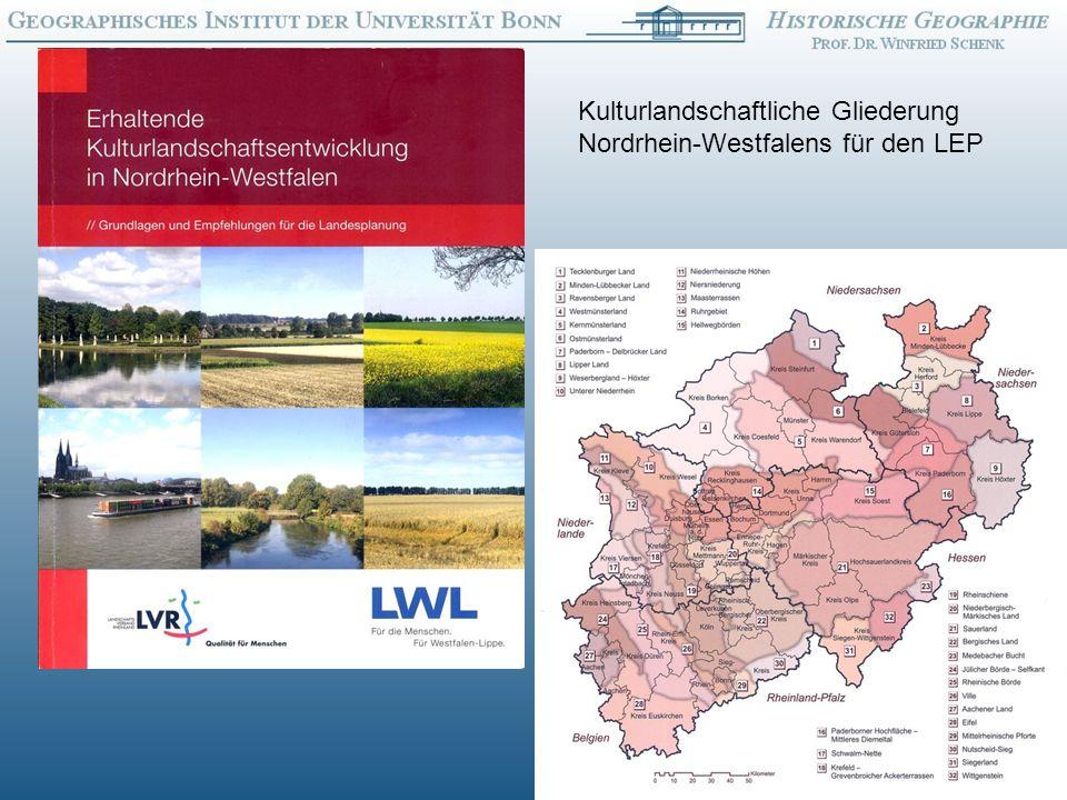 Kulturlandschaftliche Gliederung Nordrhein-Westfalens für den LEP