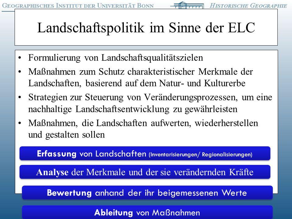 Landschaftspolitik im Sinne der ELC