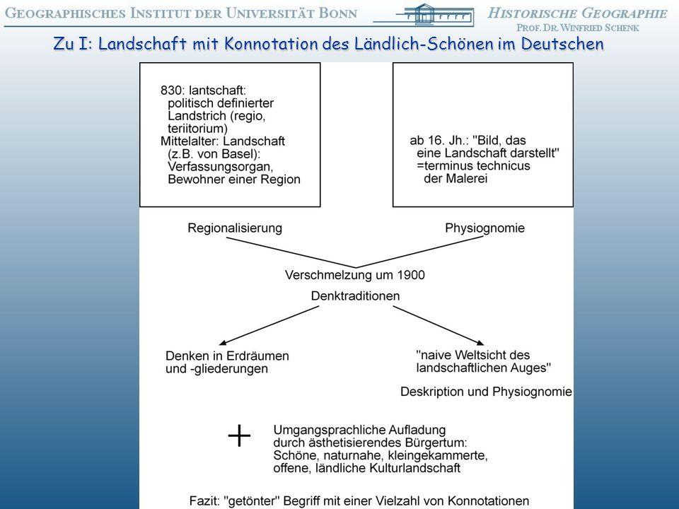 Zu I: Landschaft mit Konnotation des Ländlich-Schönen im Deutschen