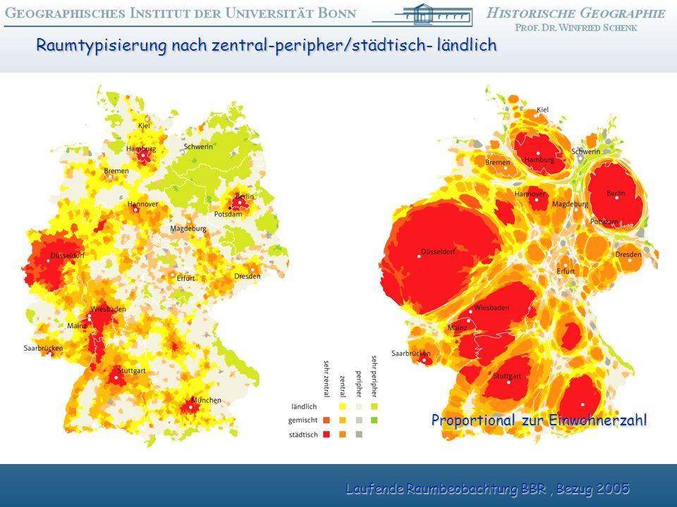 Raumtypisierung nach zentral-peripher/städtisch- ländlich