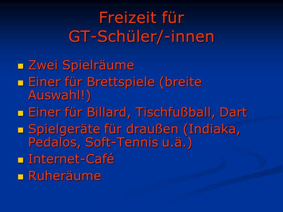 Freizeit für GT-Schüler/-innen