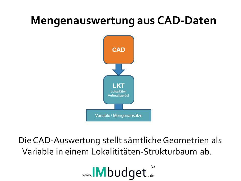 Mengenauswertung aus CAD-Daten