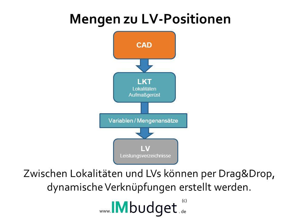 Mengen zu LV-Positionen
