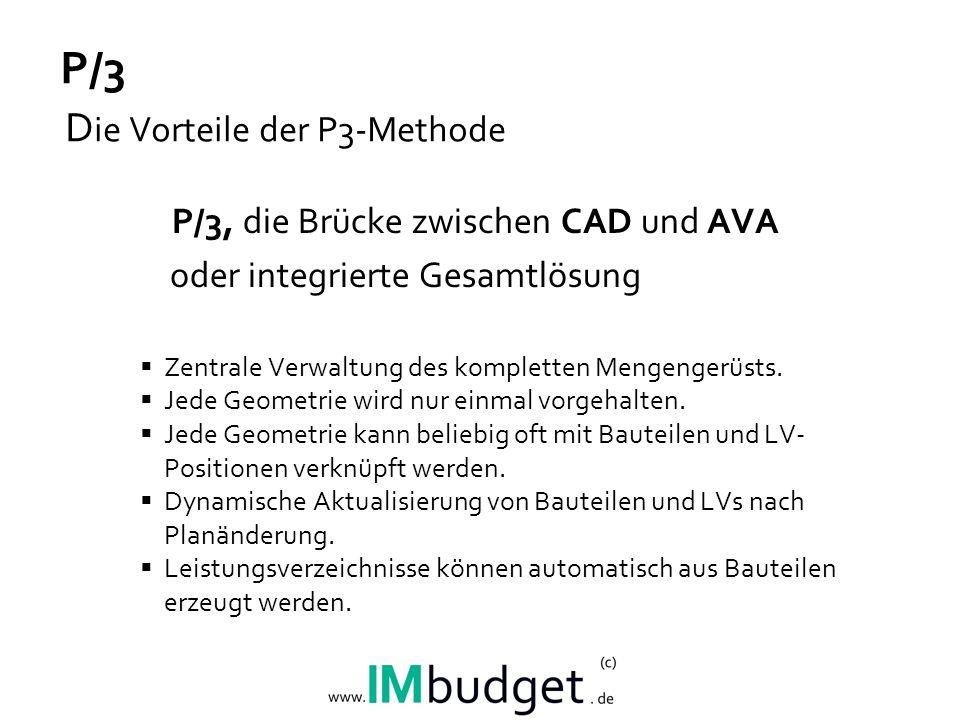 P/3 Die Vorteile der P3-Methode