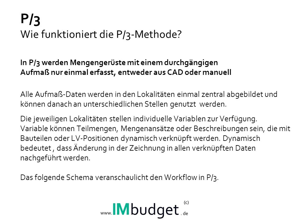 P/3 Wie funktioniert die P/3-Methode