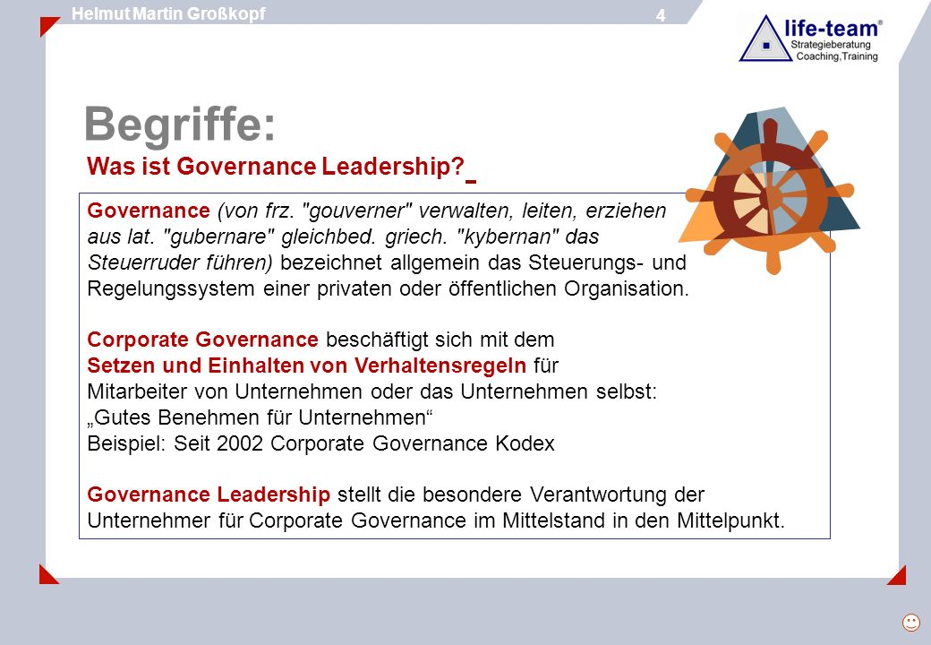 Begriffe: Was ist Governance Leadership