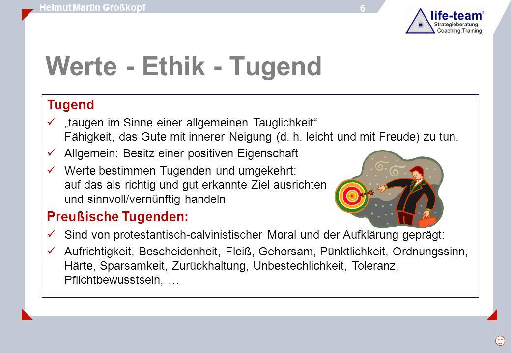 Werte - Ethik - Tugend Tugend Preußische Tugenden: