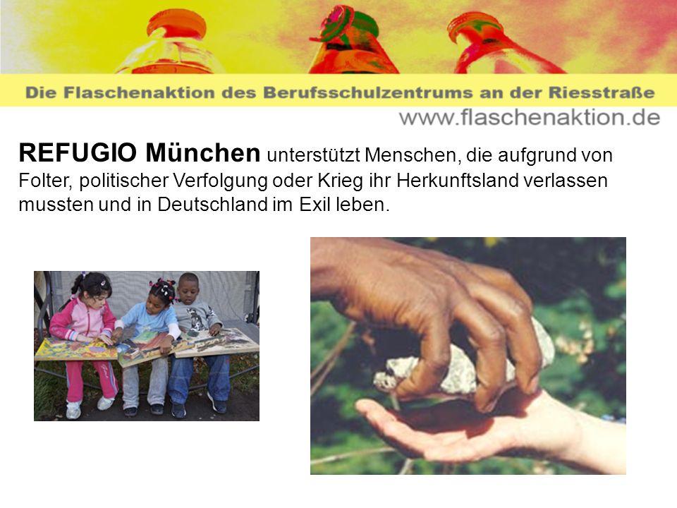 REFUGIO München unterstützt Menschen, die aufgrund von Folter, politischer Verfolgung oder Krieg ihr Herkunftsland verlassen mussten und in Deutschland im Exil leben.