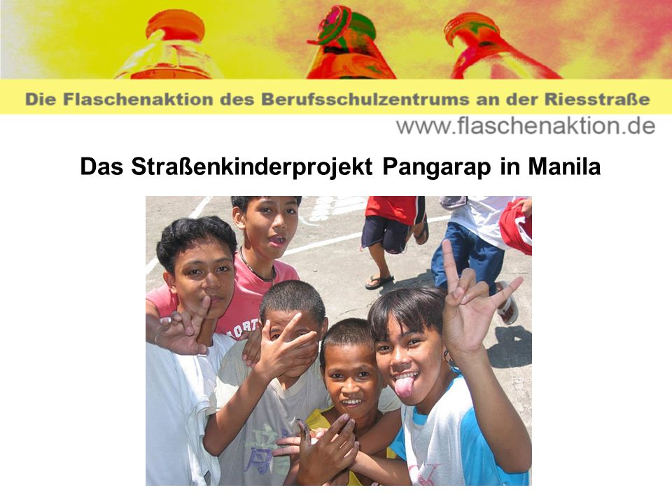 Das Straßenkinderprojekt Pangarap in Manila