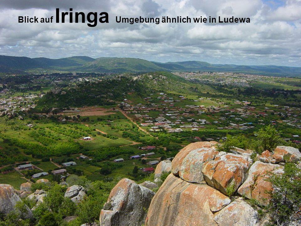 Blick auf Iringa Umgebung ähnlich wie in Ludewa