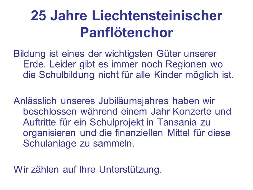 25 Jahre Liechtensteinischer Panflötenchor