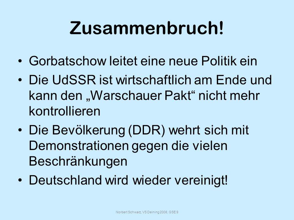 Norbert Schwarz, VS Deining 2008, GSE 9