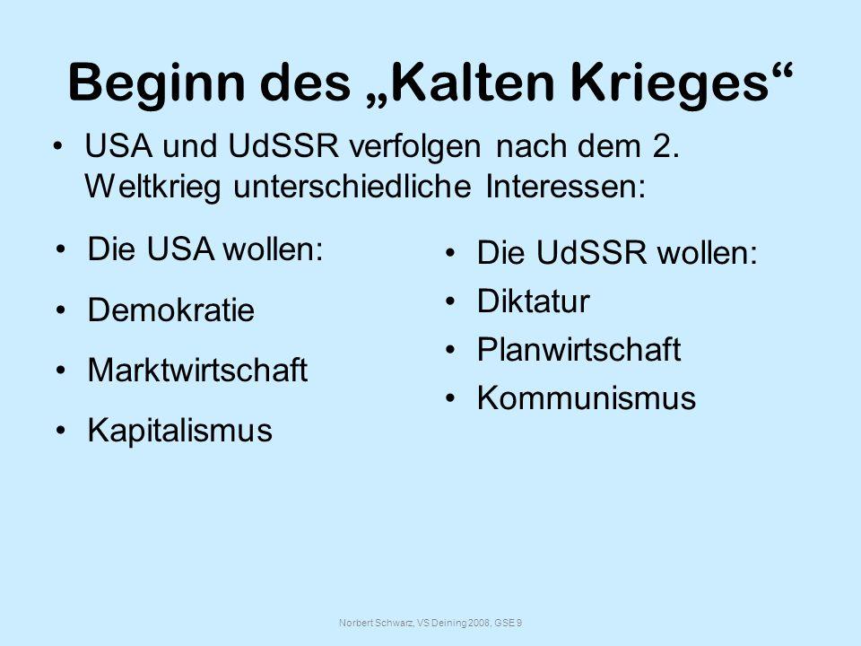 """Beginn des """"Kalten Krieges"""