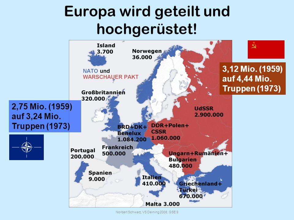 Europa wird geteilt und hochgerüstet!