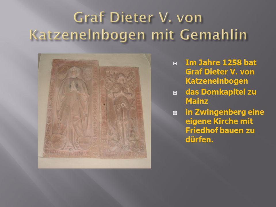 Graf Dieter V. von Katzenelnbogen mit Gemahlin