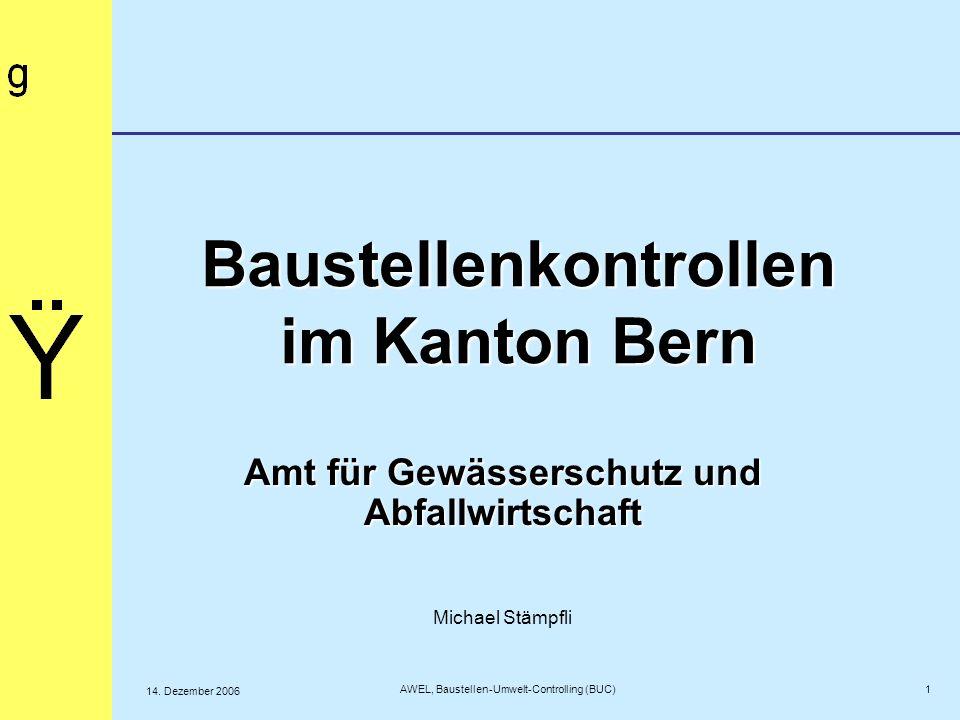 Baustellenkontrollen im Kanton Bern