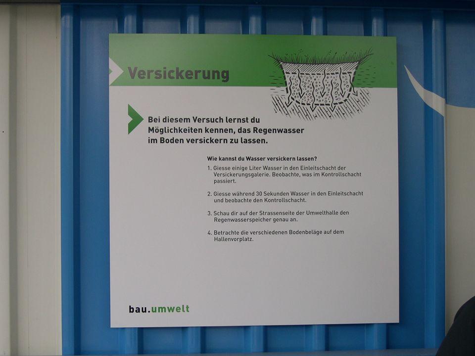 Kurzeinlage: Werbung für die Umwelthalle in Sursee