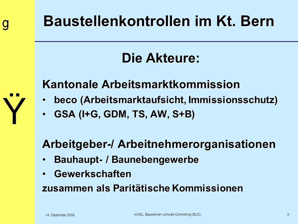 AWEL, Baustellen-Umwelt-Controlling (BUC)