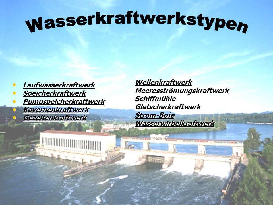 Wasserkraftwerkstypen