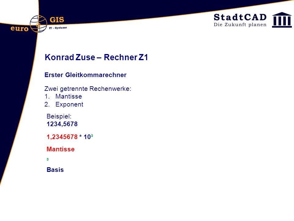 Konrad Zuse – Rechner Z1 Erster Gleitkommarechner