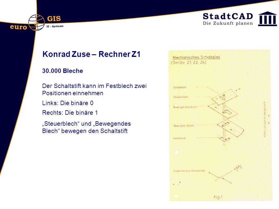 Konrad Zuse – Rechner Z1 30.000 Bleche
