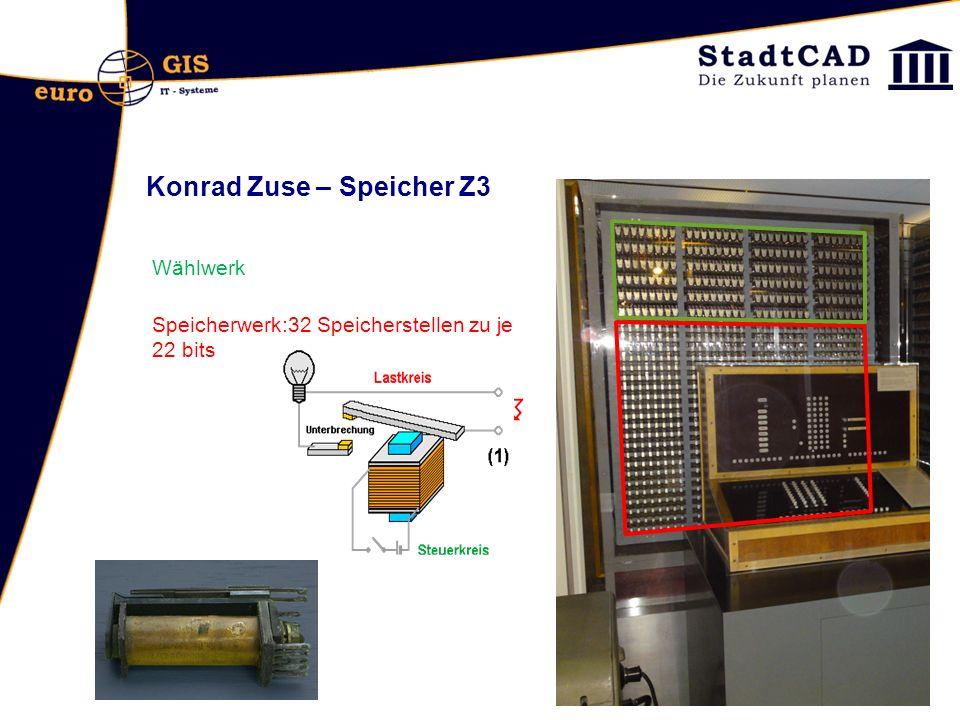 Konrad Zuse – Speicher Z3