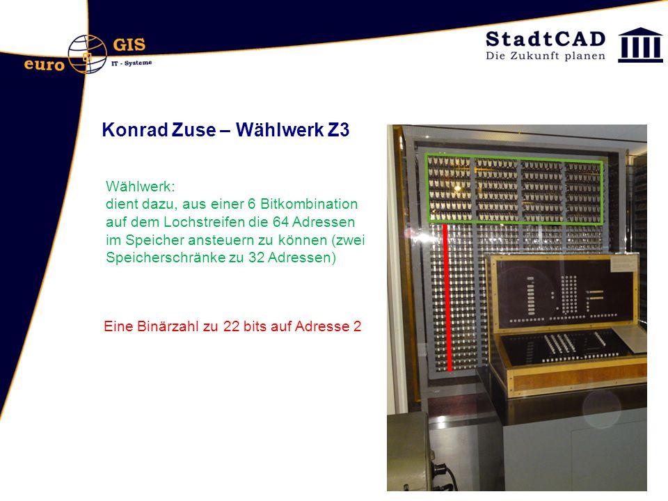 Konrad Zuse – Wählwerk Z3