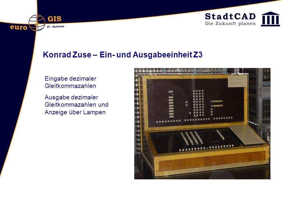 Konrad Zuse – Ein- und Ausgabeeinheit Z3