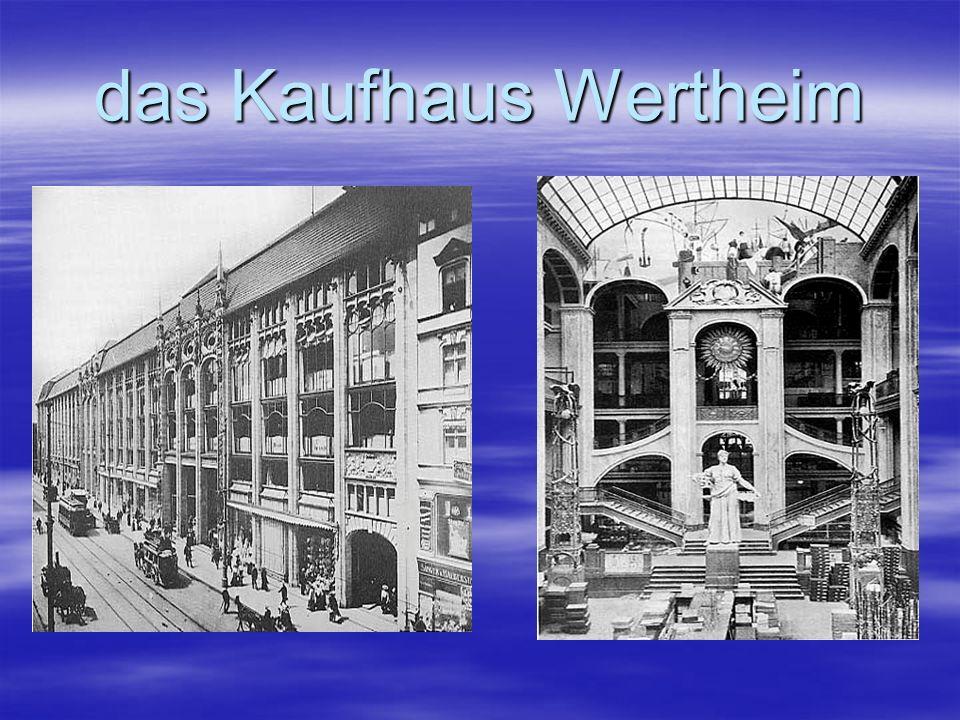 das Kaufhaus Wertheim