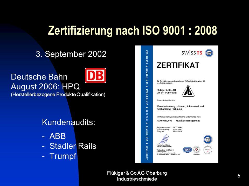 Zertifizierung nach ISO 9001 : 2008