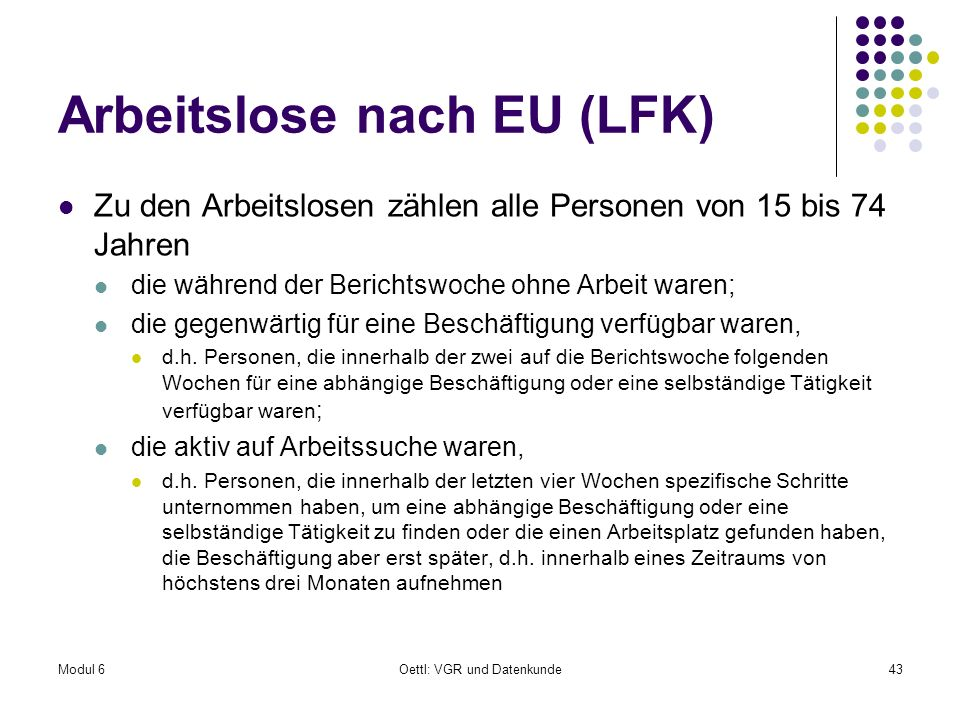 Arbeitslose nach EU (LFK)